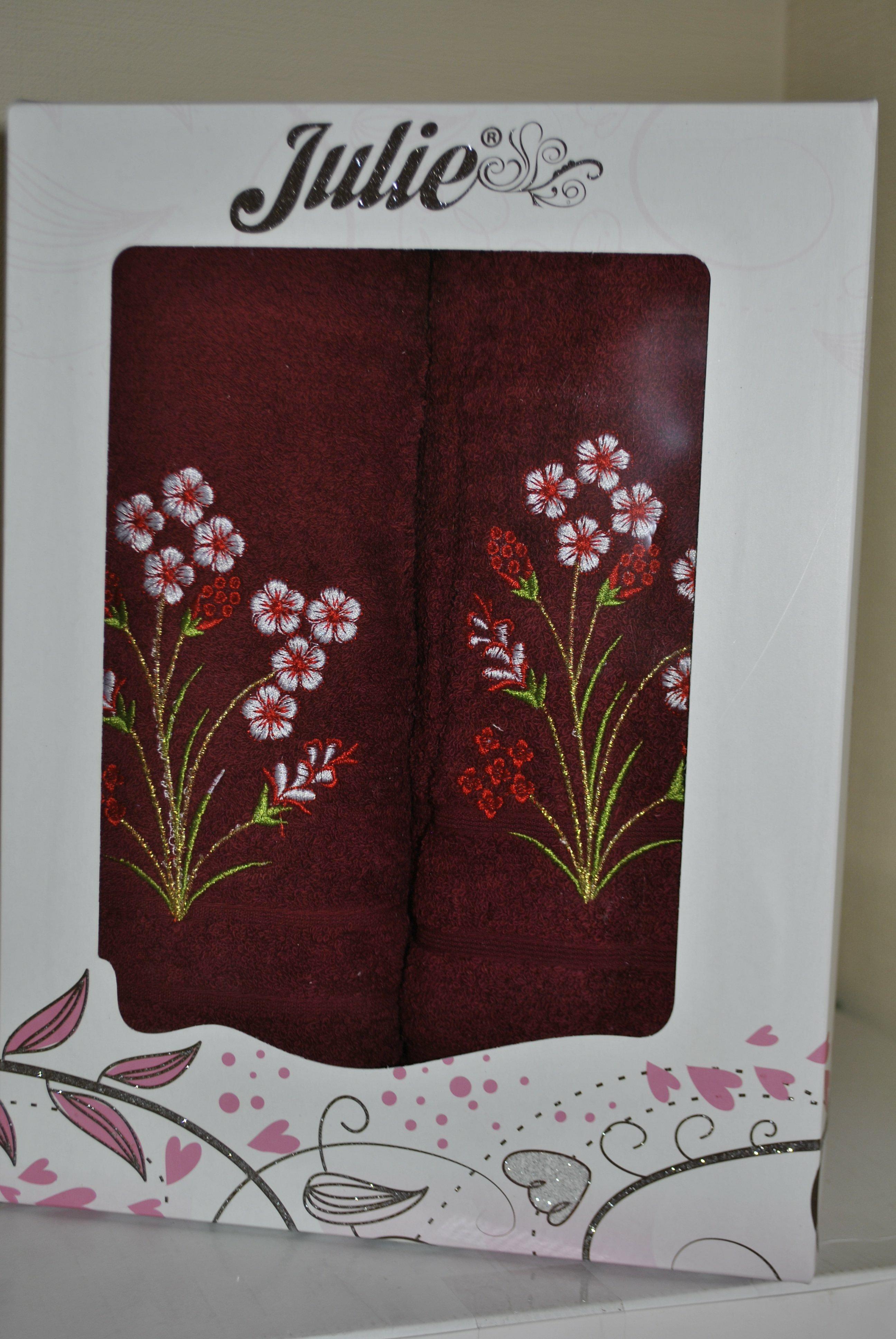 Набор махровых полотенец с вышивкой, заказать