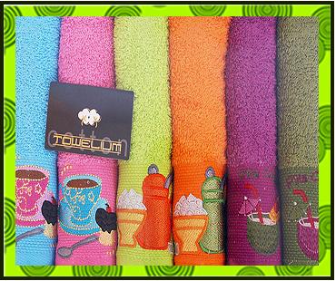 Набор махровых полотенец с вышивкой, купить