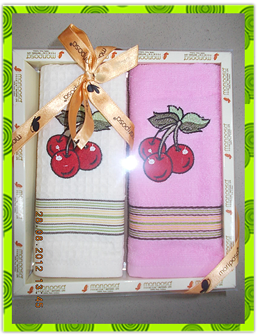 Набор полотенец вафельное + махровое на заказ