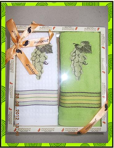 Набор полотенец вафельное + махровое