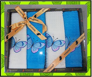 Набор полотенец вафельное + махровое, купить