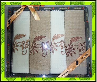 Набор полотенец вафельное + махровое, продажа