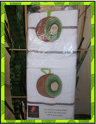 Набор полотенец вафельное + махровое, фото