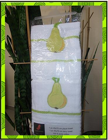 Заказать Набор полотенец вафельное + махровое