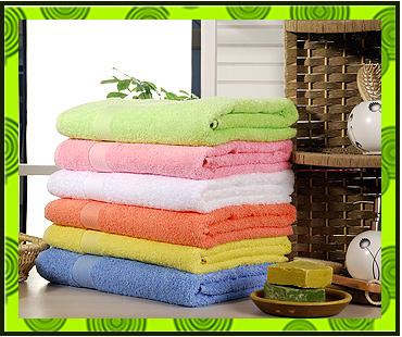 Махровые полотенца однотонные заказать