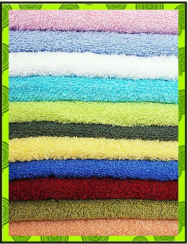 Махровые полотенца однотонные