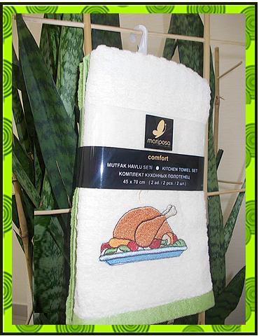 Махровое полотенце с вышивкой, фото